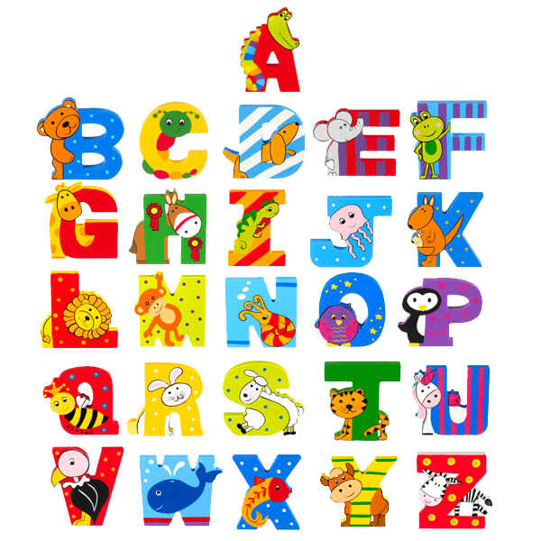 Children's Wooden Door Letters