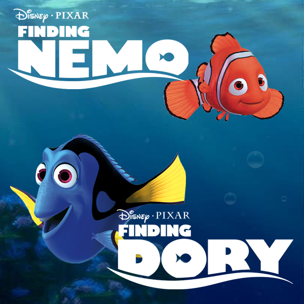 Finding Nemo and Finding Dory Wall Stickers