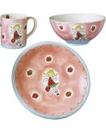 Children's Handpainted Dinner Sets - Strawberry Fairy