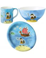 Children's Hand-Painted Ceramic Dinner Set - Ole The Viking