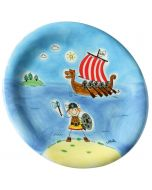 Ole the Vicking Kids ceramic plate
