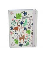 Children's A5 Notebook - Floral Fox and Hare