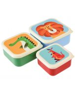 Children's 3 Piece Colourful Animal Snack Box