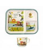 Kids Melamine and Cup - Row Your Boat