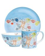 Children's Handpainted Ceramic Dinner Set - Cheeky Monkey