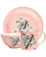 Children's Hand-Painted Ceramic Dinner Set - Koala