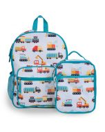 Modern Construction Kid's Backpack & Lunch Bag