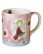 Children's Hand Painted Ceramic Mug - Strawberry Fairy