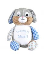 Personalised Children's Soft Toy - Blue Bunny