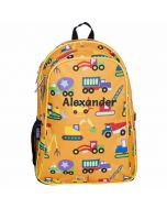 Personalised Construction Kids Backpacks