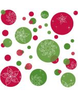 Festive Dots Christmas Wall Stickers by RoomMates