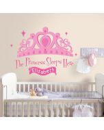 Princess Sleeps Here Personalisable Wall Stickers