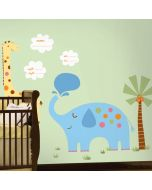 New Baby Jungle Animals Giant Wall Stickers