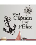 Work Like a Pirate Wall Stickers