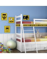 Monsters Inc. Caution Signs Wall Stickers