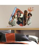 Star Wars Episode VII - Classic Characters Burst Wall Stickers