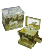 Girls White Unicorn Jewellery Box