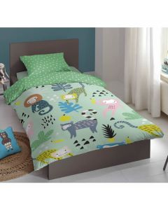 Children's 100% Cotton Duvet Cover - Monkey