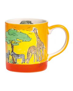 Children's Handpainted Ceramic Mugs - Africa
