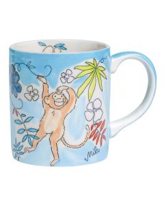 Children's Handpainted Ceramic Mug - Monkey