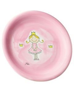 Children's Handpainted Ceramic Plate - Little Princess