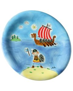 Children's Handpainted Ceramic Plate - Ole the Viking