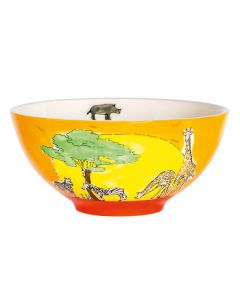 Children's Hand-Painted Ceramic Bowl - Africa
