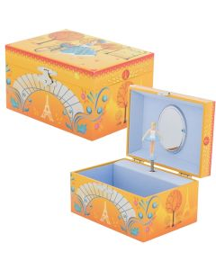 Paris in Autumn Musical Jewellery Box - Personalisable