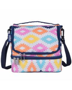 Double Compartment Lunch Bag - Aztec