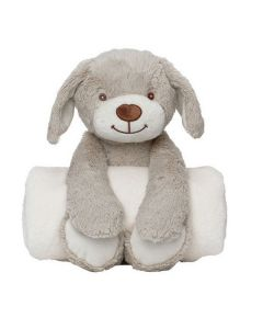 Huggable Soft Toy & Baby Blanket – Playful Puppy