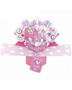 New Baby Girl 3D Pop up Card
