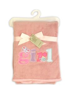 Personalised Baby Blankets - Pink Baby Girl