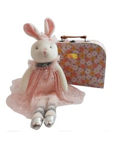 Ballerina Bunny Soft Toy in a suitcase