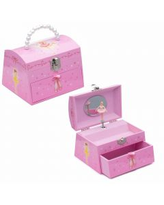 Beaded ballerina musical jewellery boxes