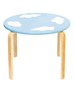 Blue table for kids