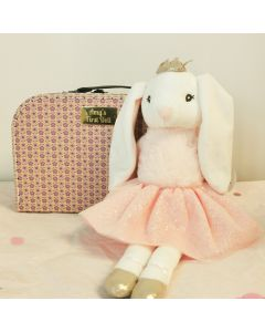 Bunny Princess Soft Toy in Suitcase - Personalisable