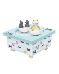 Cat & Mouse Wooden Baby Music Boxes - Personalisable