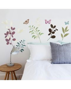 Children's Botanical Butterfly Wall Decals