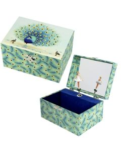 Girls Musical Jewellery Boxes - Peacock