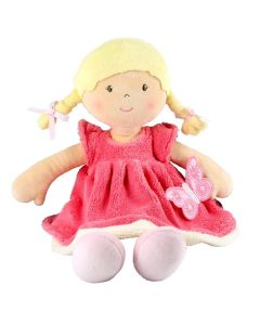 Children's Personalised Pink Butterfly Rag Doll