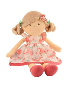 Children's Personalised Rag Doll - Pink Roses