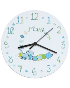 Boy's Personalised Train Wall Clock