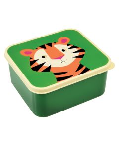 Children's Plastic Lunch Boxes - Tiger