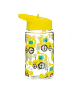 Children's Plastic Water Bottle 400ml - Digger