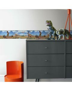 Dino wall border easy peel