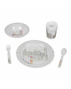 wine the pooh melamine set gift set 5 pieces