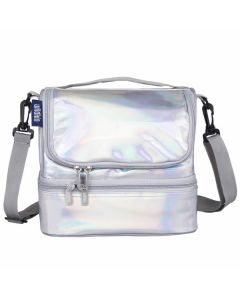 Dual Compartment Lunch Bag - Holographic