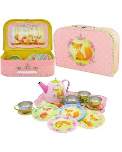 Fox Children's Play Tea Set 14 Piece - Personalisable