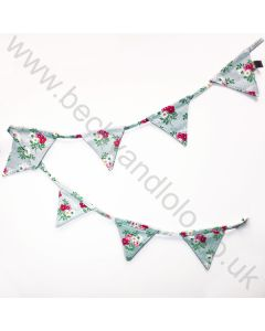 Children's Floral Canvas Bunting