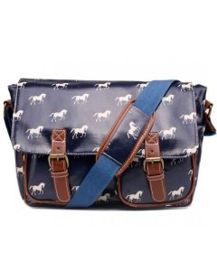 Navy Satchels with horses
